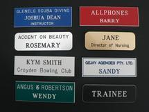 Laser Engraved Custom Name Badges