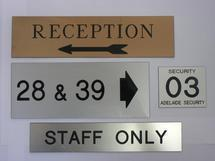 Engraved Plastic Direction Signs