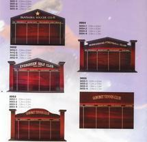 Honour Boards from Prestige Trophy Badge & Engraving