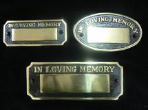 Small Cast Brass Pre Made Memorial Plaques