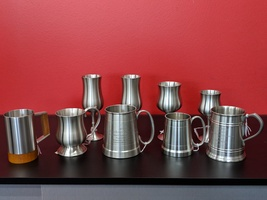 Pewter Mugs and Goblets