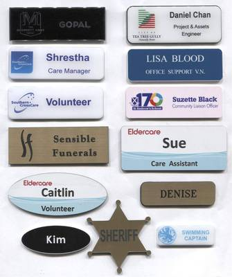 Click here for more Name Badges from Prestige Trophy and Badge