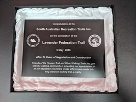 Black Anodised Aluminium Plaque with Presentation Box