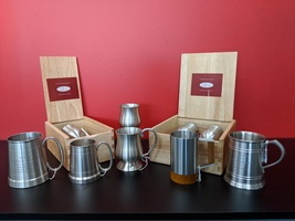 Pewter Mugs and Goblets with Presentation boxes